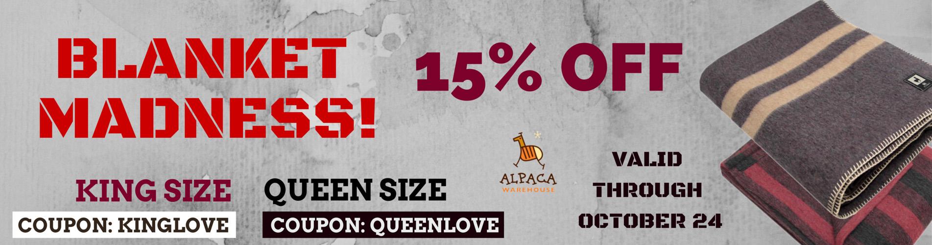 Discount Coupon Alpaca Warehouse Blanket