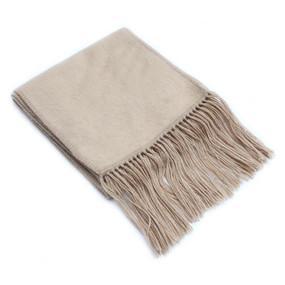 Alpaca Wool Woven Scarf Beige