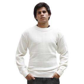Mens Superfine Alpaca Wool Crewneck Sweater SZ XL Ivory