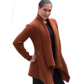 Women's Alpaca Wool Coat SZ M Copper