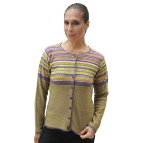 Womens 100% Baby Alpaca Wool Cardigan Sweater Size L