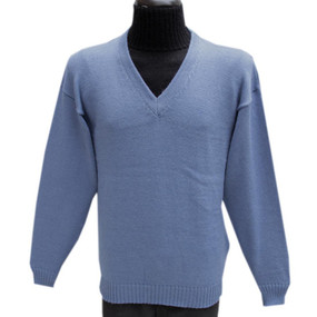 Vneck Alpaca Wool Sweater Soft Blue SZ XL