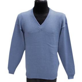 Vneck Alpaca Wool Soft  Blue SZ 2XL