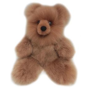 "Superfine 100% Baby Alpaca Fur Stuffed Artist Teddy Bear 11"""