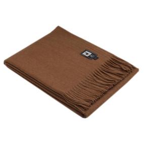 Alpaca Merino Wool Blanket Throw Solid Camel