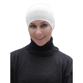 Superfine Alpaca Wool Beanie Ivory One Size