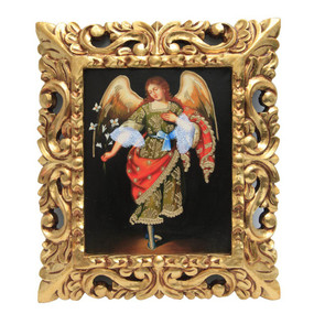"Archangel Gabriel Original Art Framed Oil Painting 15""x 13"""