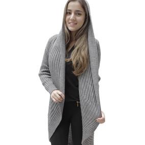 Alpaca Wool Coat Medium Gray SZ L (11K-031-403L)