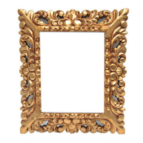 """Gilt Colonial Carved Wood Painting Frame  15""""H x 13""""W"""