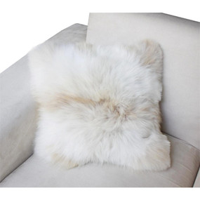 "Superfine 100% Baby Alpaca Fur Pillow Case Cushion 17""L x 17""W"