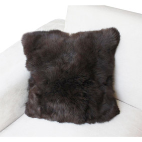 "Superfine 100% Baby Alpaca Fur Pillow Case Cushion 17""x 17"""