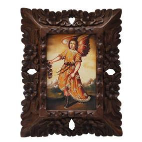 "Archangel Barachiel Original Art Framed Oil Painting 10""x 8"""