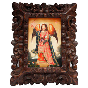 "Archangel Gabriel Original Art Framed Oil Painting 10""x 8"""