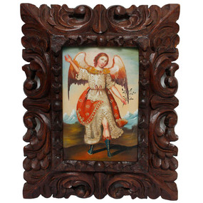 "Archangel Ariel Original Art Framed Oil Painting 10""x 8"""