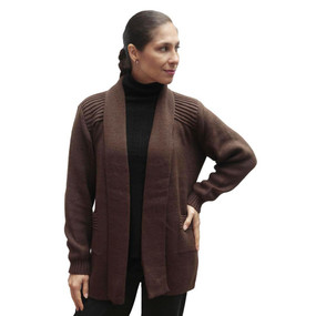 Women's Alpaca Wool Coat Sz XL Brown