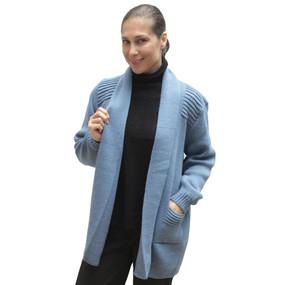 Women's Alpaca Wool Coat Sz L Soft Blue