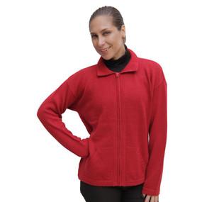 Womens Alpaca Wool Jacket Red SZ XL