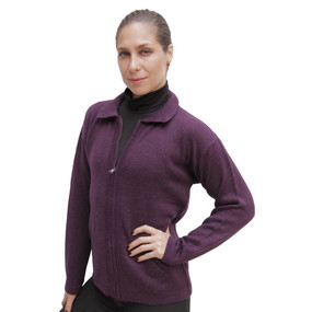 Womens Alpaca Wool Jacket Plum SZ L