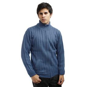 Mens Alpaca Wool Jacket Steel Blue Size XL