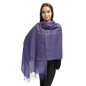 Textures Baby Alpaca & Silk Shawl by Inca Alpaca Soft Purple