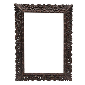 """Colonial Carved Wood Painting Frame 31"""" x 23"""""""