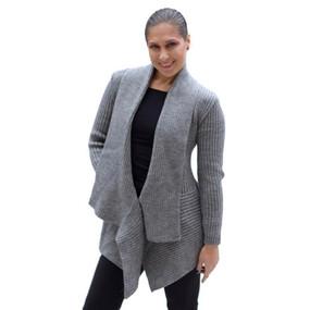 Women's Alpaca Wool Coat SZ M Soft Gray