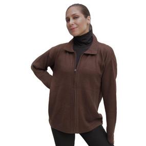 Womens Alpaca Wool Jacket Brown SZ M
