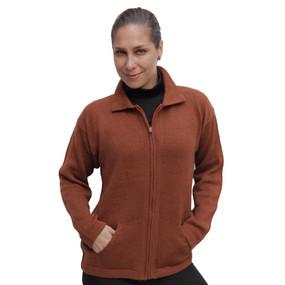 Womens Alpaca Wool Jacket Copper SZ M