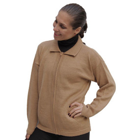 Womens Alpaca Wool Jacket Tan SZ L