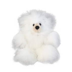 "Superfine 100% Baby Alpaca Fur Stuffed Artist Teddy Bear 11"" Ivory/Beige (22B-100-005)"