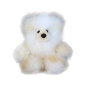 "Superfine 100% Baby Alpaca Fur Stuffed Artist Teddy Bear 11"" Ivory/Beige (22B-100-006)"
