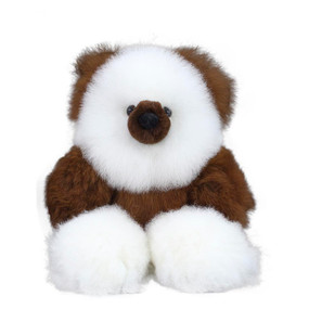 "Superfine 100% Baby Alpaca Fur Artist Teddy Bear One of a Kind 14"" (20-100-02645)"