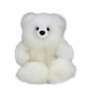 "Superfine 100% Baby Alpaca Fur Artist Teddy Bear One of a Kind 14"" (20B-013)"