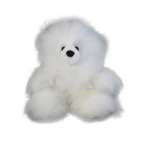 "Superfine 100% Baby Alpaca Fur Stuffed Artist Teddy Bear 11""  (22B-013)"