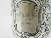 Antique 1862 Christening Tankard Solid Sterling Silver by John Tongue