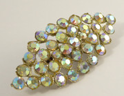Vintage Art Deco Costume Jewellery Brooch with Iridescence Paste Setting
