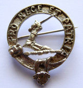 Antique Scottish Clan Cameron Pro Rege Et Patria Brooch