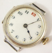 WW1 1917 Sterling Silver Trench Style Wrist Watch London Silver Import Marks