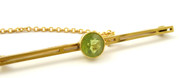 Antique Late 1800s 15ct Gold Brooch set with a Gemstone