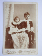 1800s Victorian Cabinet Card Photograph by Howes of Turner Falls Massachusetts