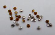10  Original Antique Austrian Late 1800s Ex Jewelers Faux Diamond Crystal Pastes