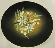 Large Studio Anna Plate with a Hand Painted Floral Motif