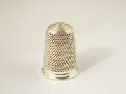 Antique Old Silver Sewing Thimble