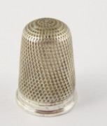 Antique  Silver  Thimble with Dimple Surface