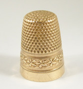 Vintage Thimble with Embossed Pattern