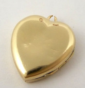 Vintage 12ct Rolled Gold Heart Photo Locket Pendant