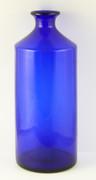 Antique Large 1800s Antique Blue Cobalt Glass Bottle