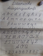 Vintage 1930s School Poster Running  Writing Chart