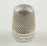 Antique Dreema Sewing Thimble 15 Henry Griffith & Sons Catherine from Alice