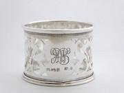 Antique 1919 Hallmarked Sterling Silver Napkin Ring Monogrammed